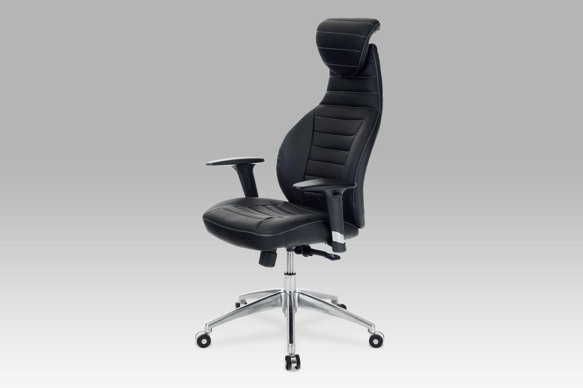 Autronic Kancelářská židle KA-T215 BK, koženka černá