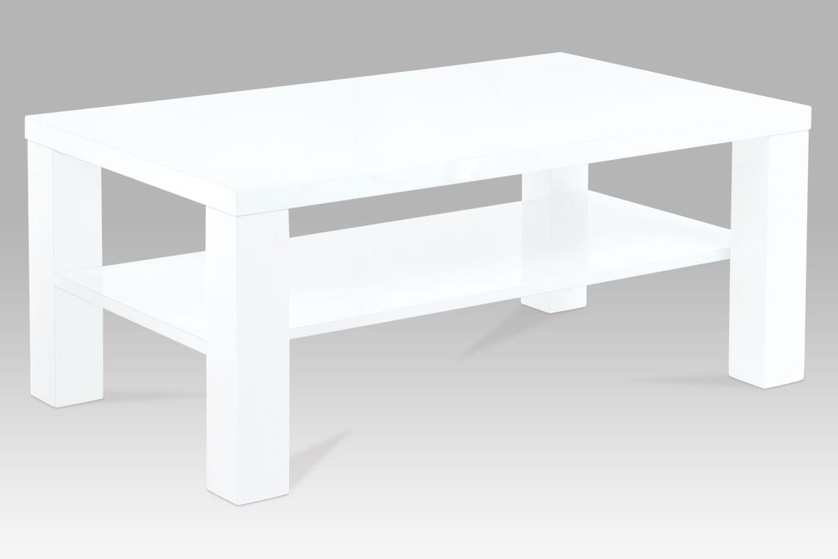Smartshop Konferenční stolek KSAHG-113 WT, vys lesk bílý
