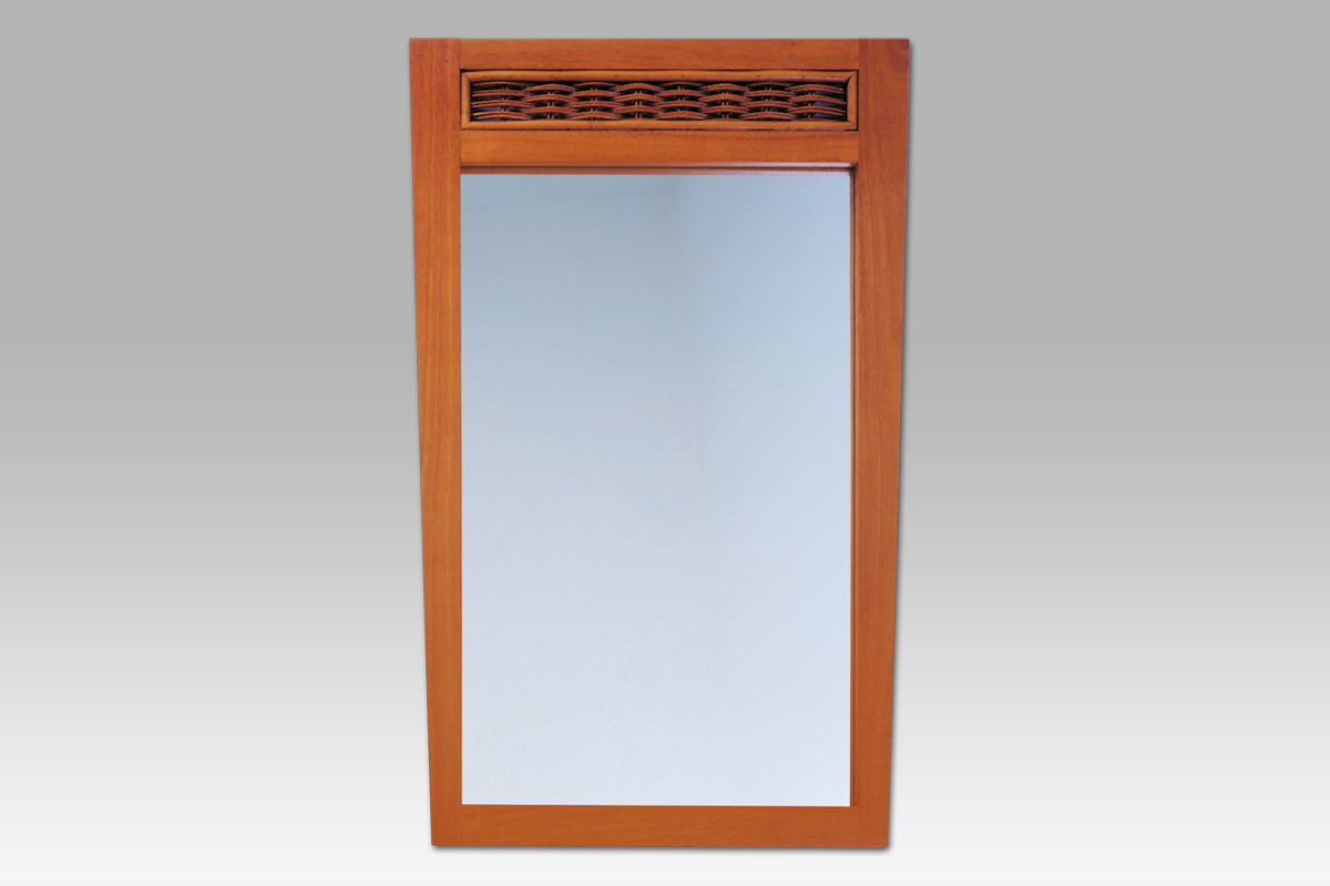 Smartshop ATHENA ZPO203 TR zrcadlo kaučuk./ratan třešeň