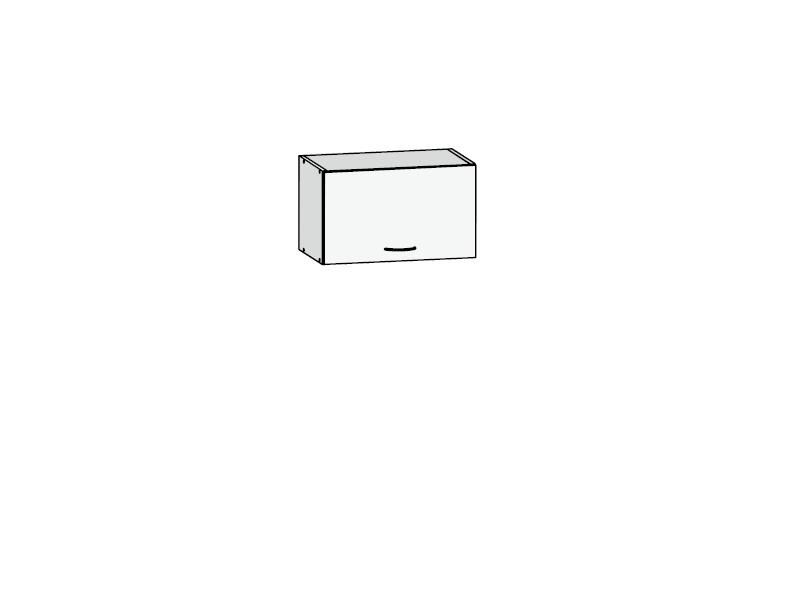 Black Red White JUNONA LINE, skříňka nad digestoř 50 cm, bílý lesk