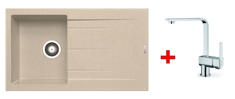 Pyramis SET dřez ALAZIA 86x50 + páková baterie ESPRESSIVO-CHROM, barva: ...