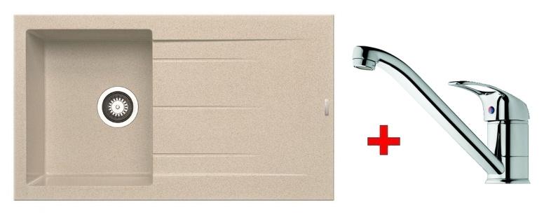 Pyramis SET dřez ALAZIA 86x50 + páková baterie ACCEL-CHROM, barva: ...