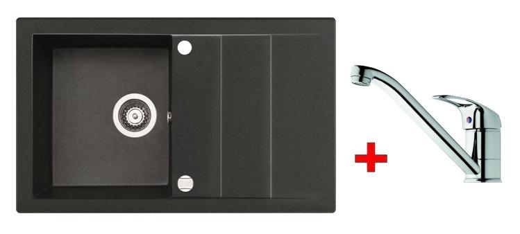 Pyramis SET dřez STUDIO 78x48 + páková baterie ACCEL-CHROM, barva: ...