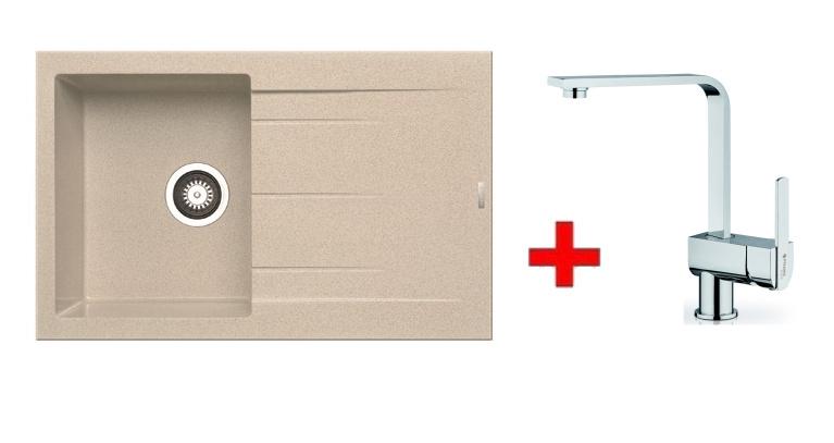 Pyramis SET dřez ALAZIA 79x50 + páková baterie ESPRESSIVO-CHROM, barva: ...