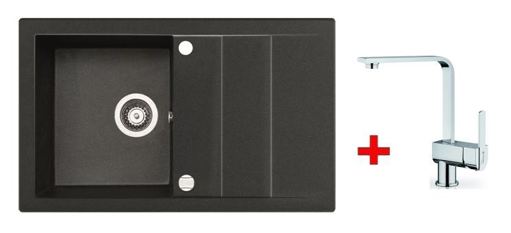 Pyramis SET dřez STUDIO 78x48 + páková baterie ESPRESSIVO-CHROM, barva: ...