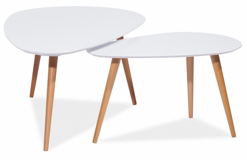 Konferenční stolky NOLAN B, buk/bílá