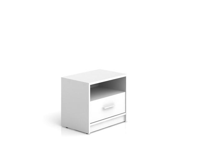 NEPO, noční stolek KOM1S, bílá