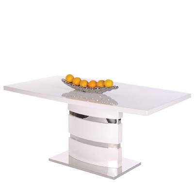 Idea Jídelní stůl CAMILLE bílý vysoký lesk