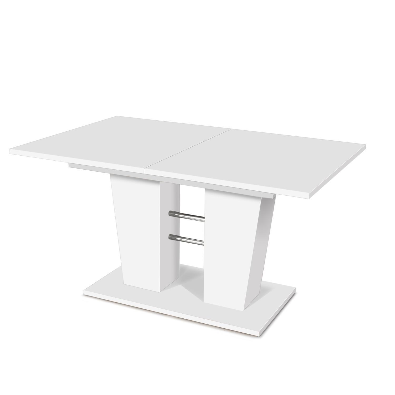 Jídelní stůl BREDA bílý, rozkládací