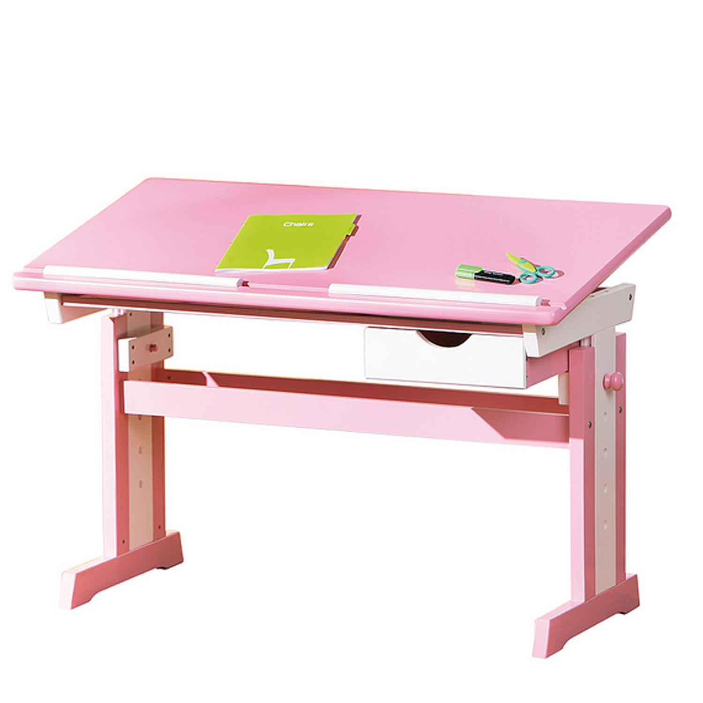 Idea Dětský rostoucí psací stůl Cecilia, růžovo/bílý