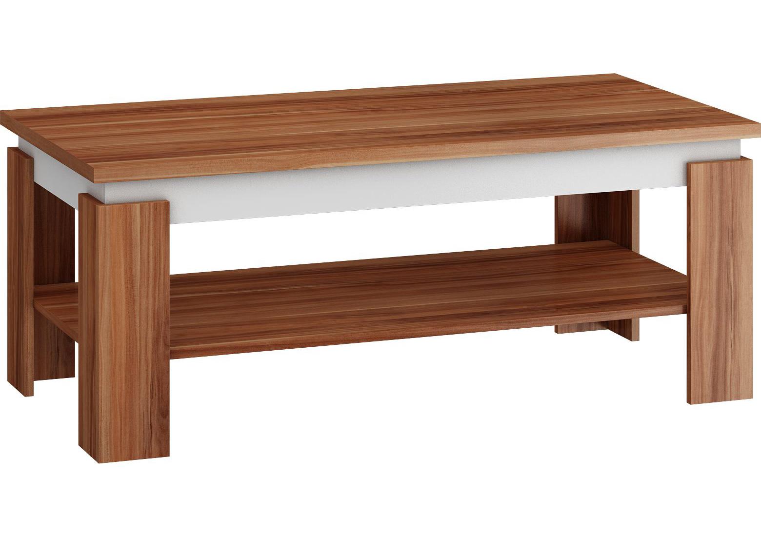 MORAVIA FLAT Konferenční stolek BETTA, švestka/bílá