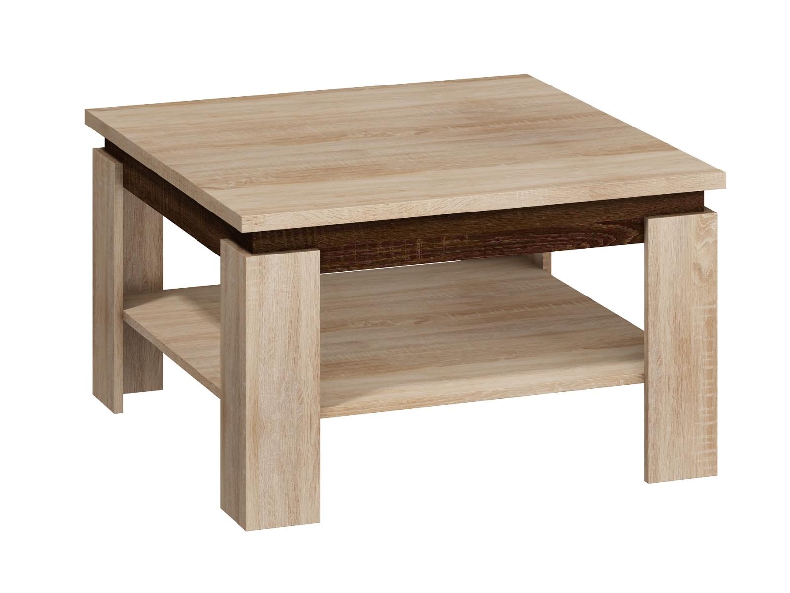 MORAVIA FLAT Konferenční stolek ALFA, dub sonoma světlý/dub sonoma tmavý