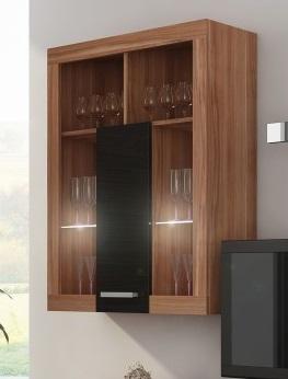 MORAVIA FLAT VIKY, závěsná skříňka 06, švestka wallis/černý lesk
