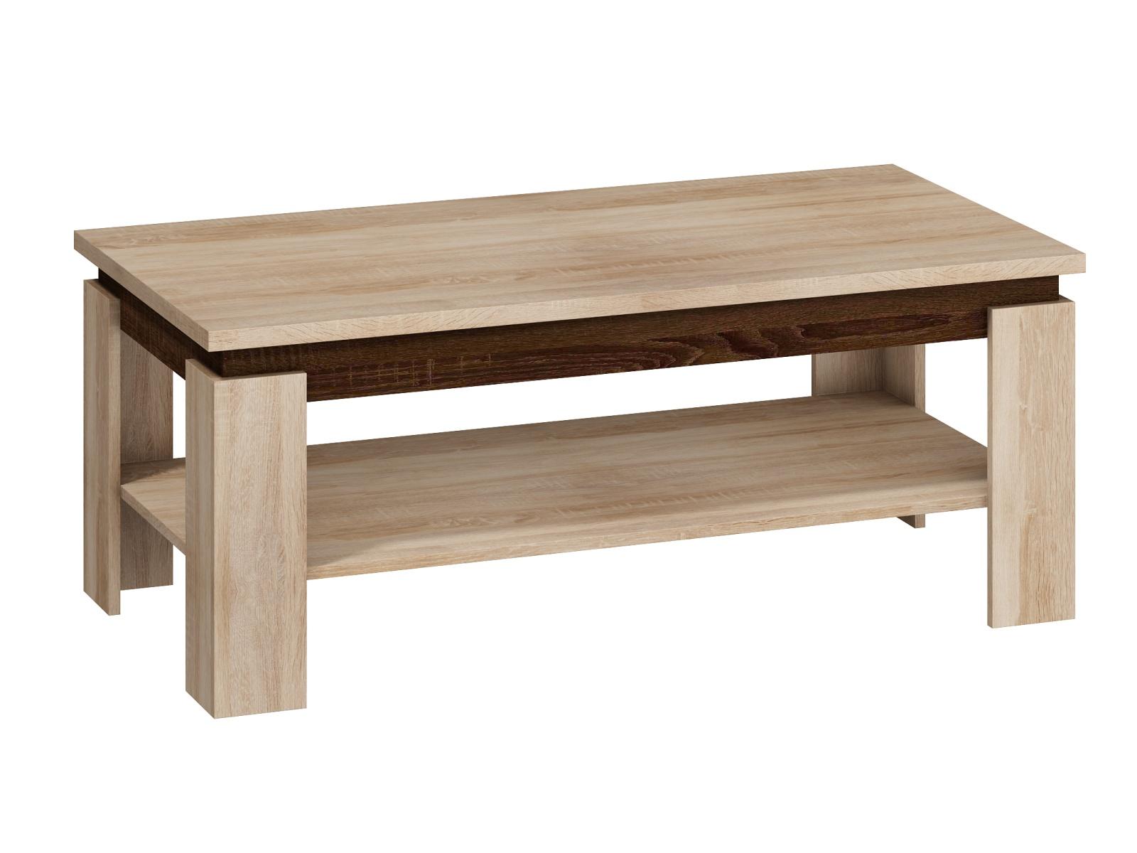 Konferenční stolek BETA, dub sonoma sv./tmavý