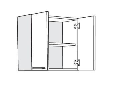 MATIS IN MDF, horní skříňka VA60, bílá lesk