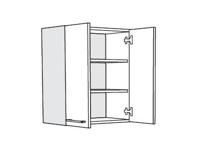 MATIS IN MDF, horní skříňka V60, bílá lesk