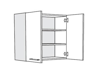 MATIS IN MDF, horní skříňka V80, bílá lesk