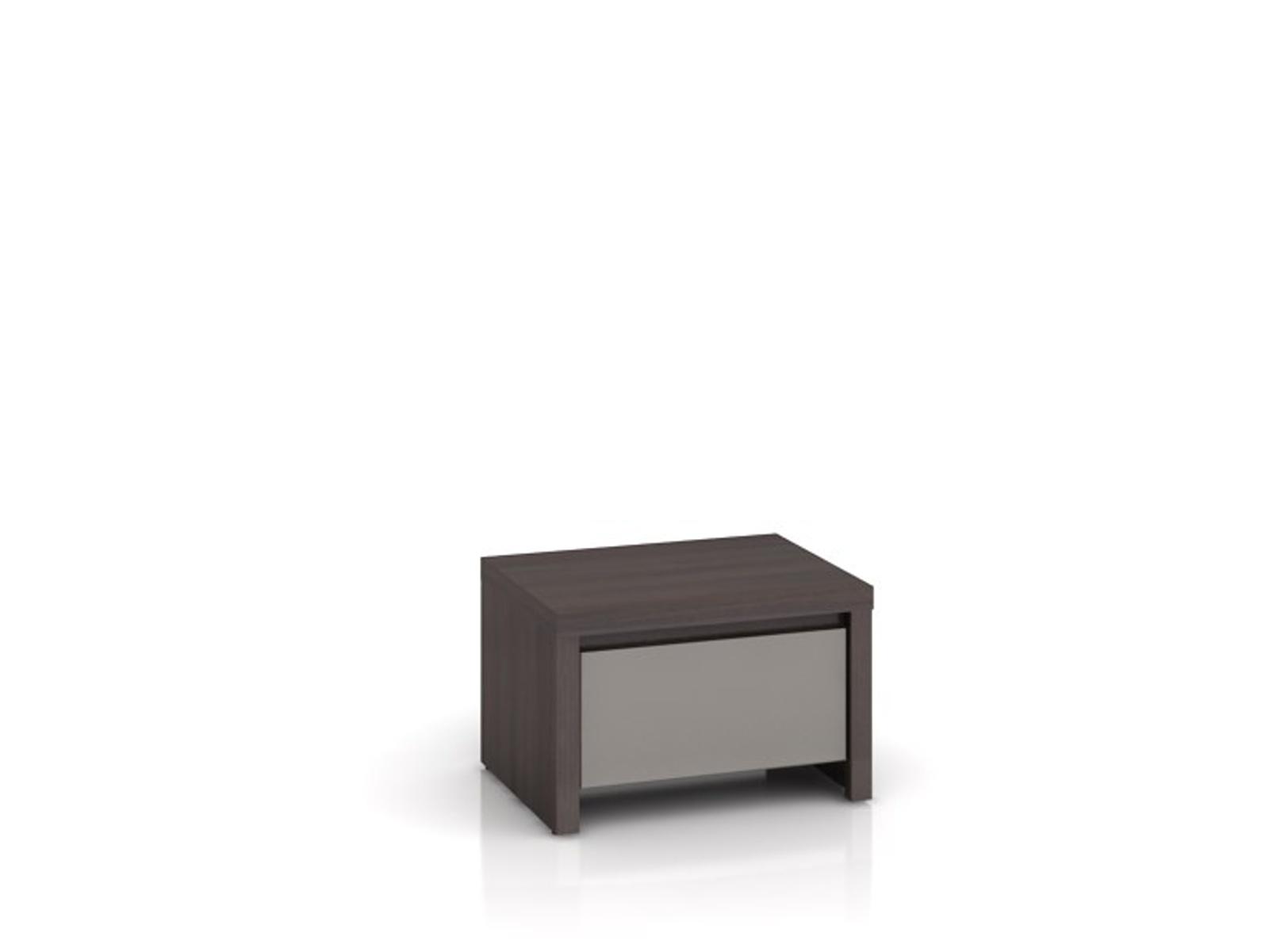 Black Red White KASPIAN, noční stolek KOM1S, šedý vysoký lesk