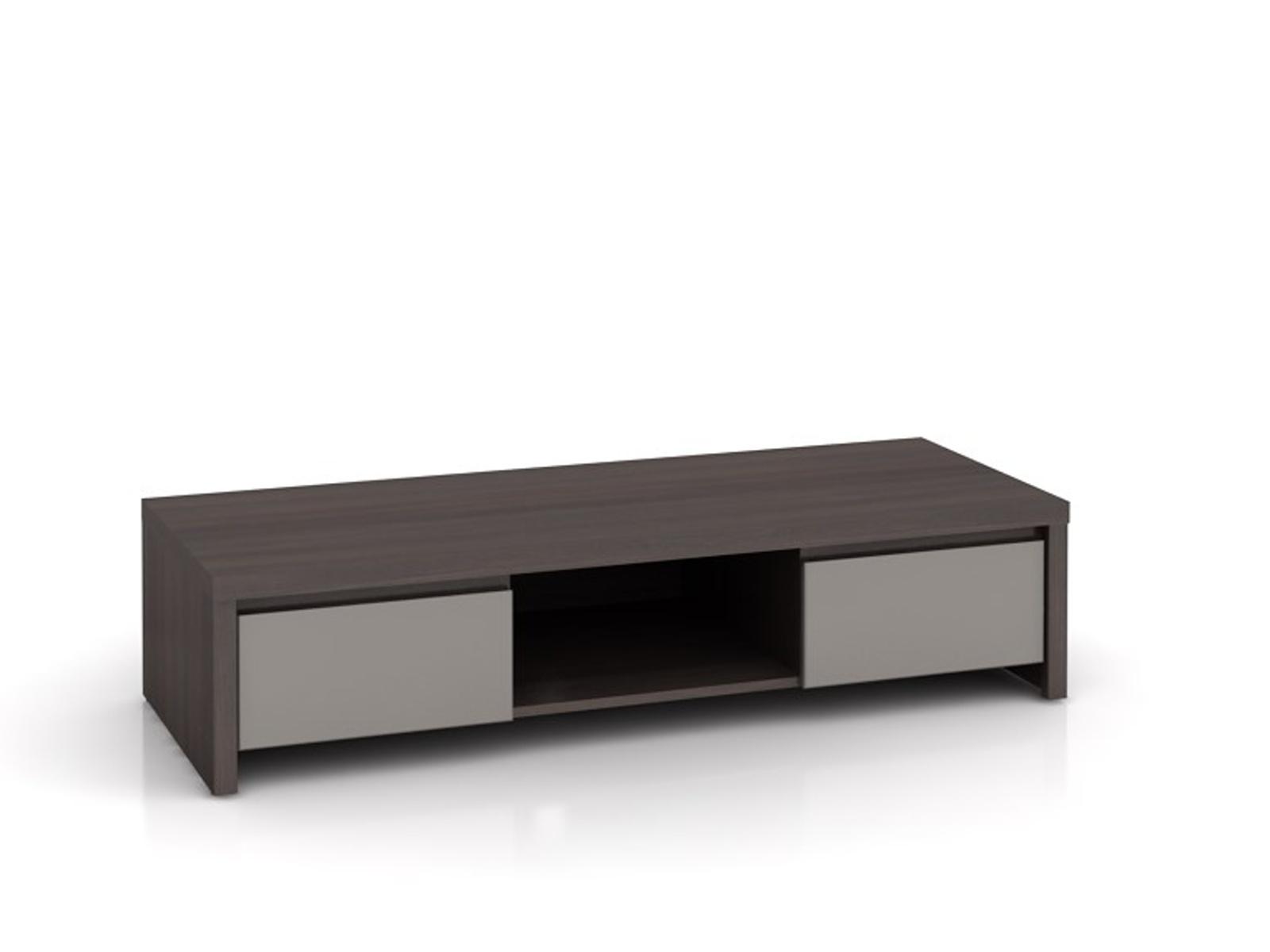Black Red White KASPIAN, televizní stolek RTV2S, šedý vysoký lesk