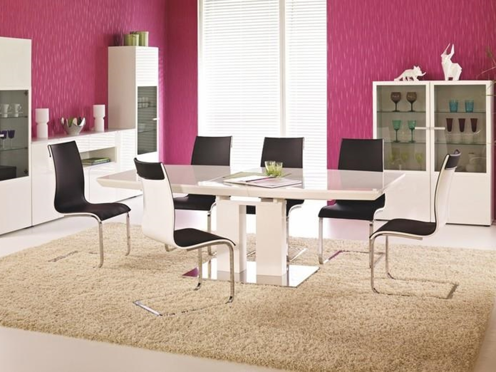 Halmar Jídelní stůl rozkládací LORENZO, bílá