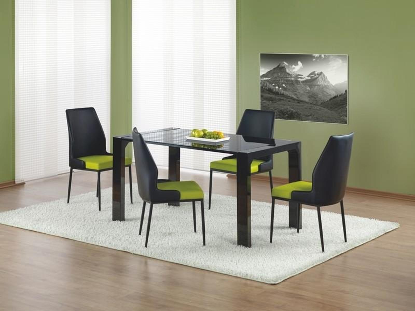 Halmar Jídelní stůl KEVIN, černý lesk