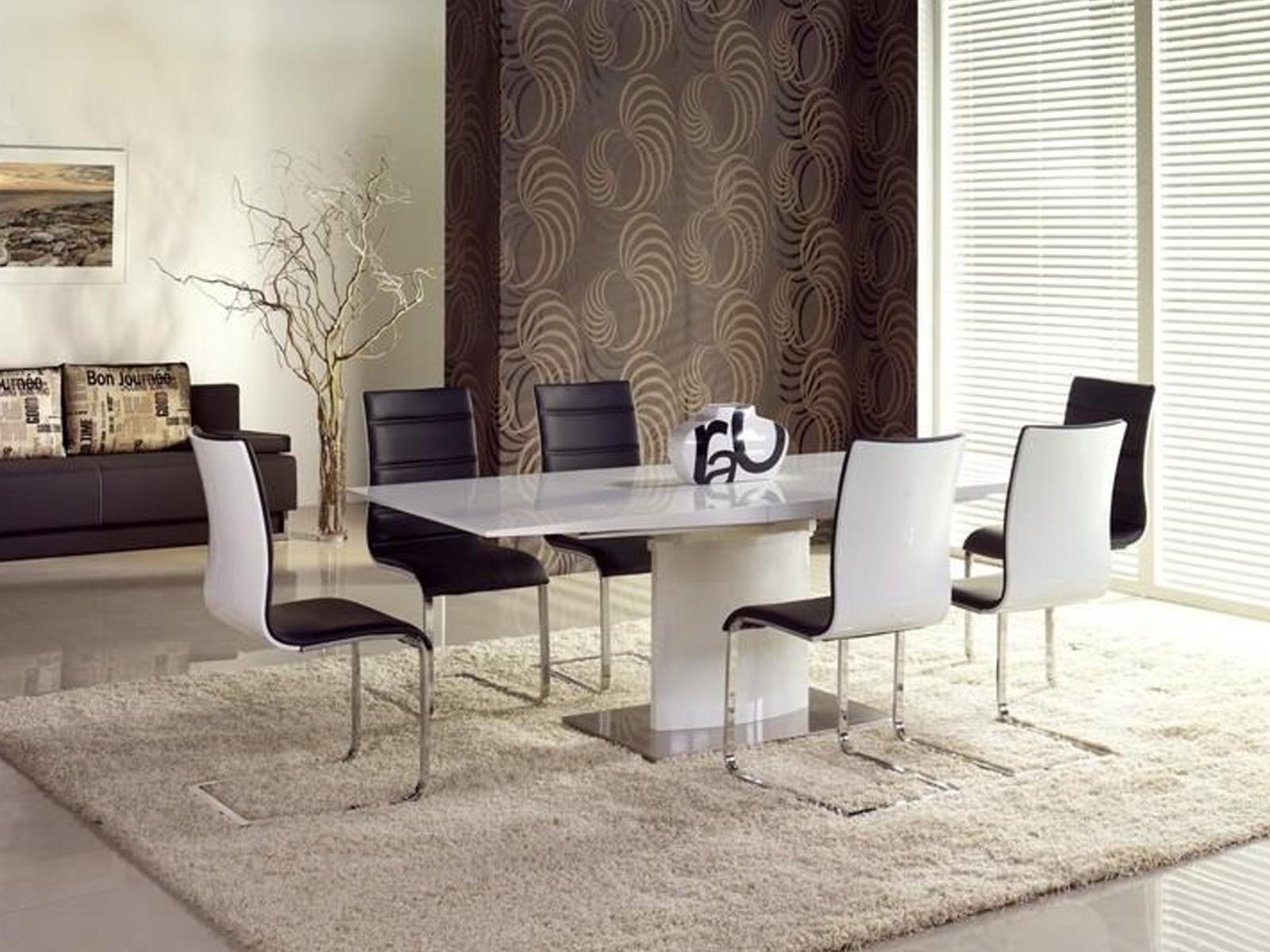 Halmar Jídelní stůl rozkládací MARCELLO, bílá