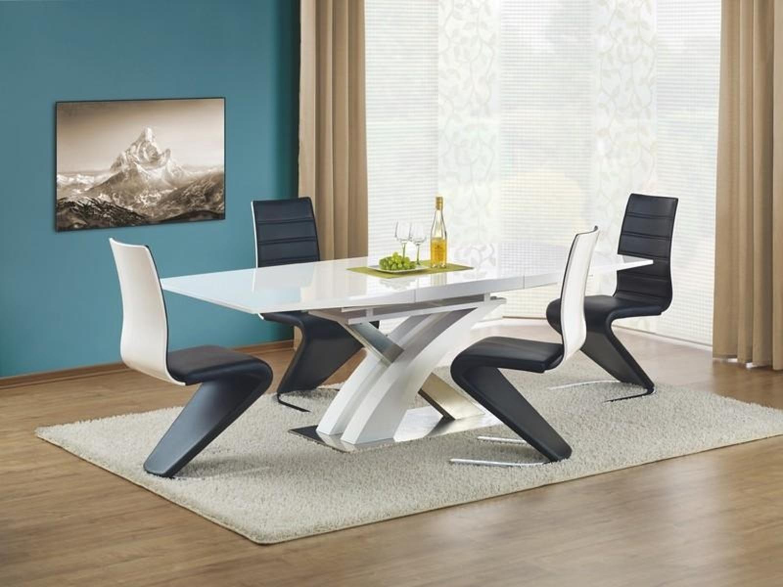 Halmar Jídelní stůl rozkládací SANDOR, bílý lak