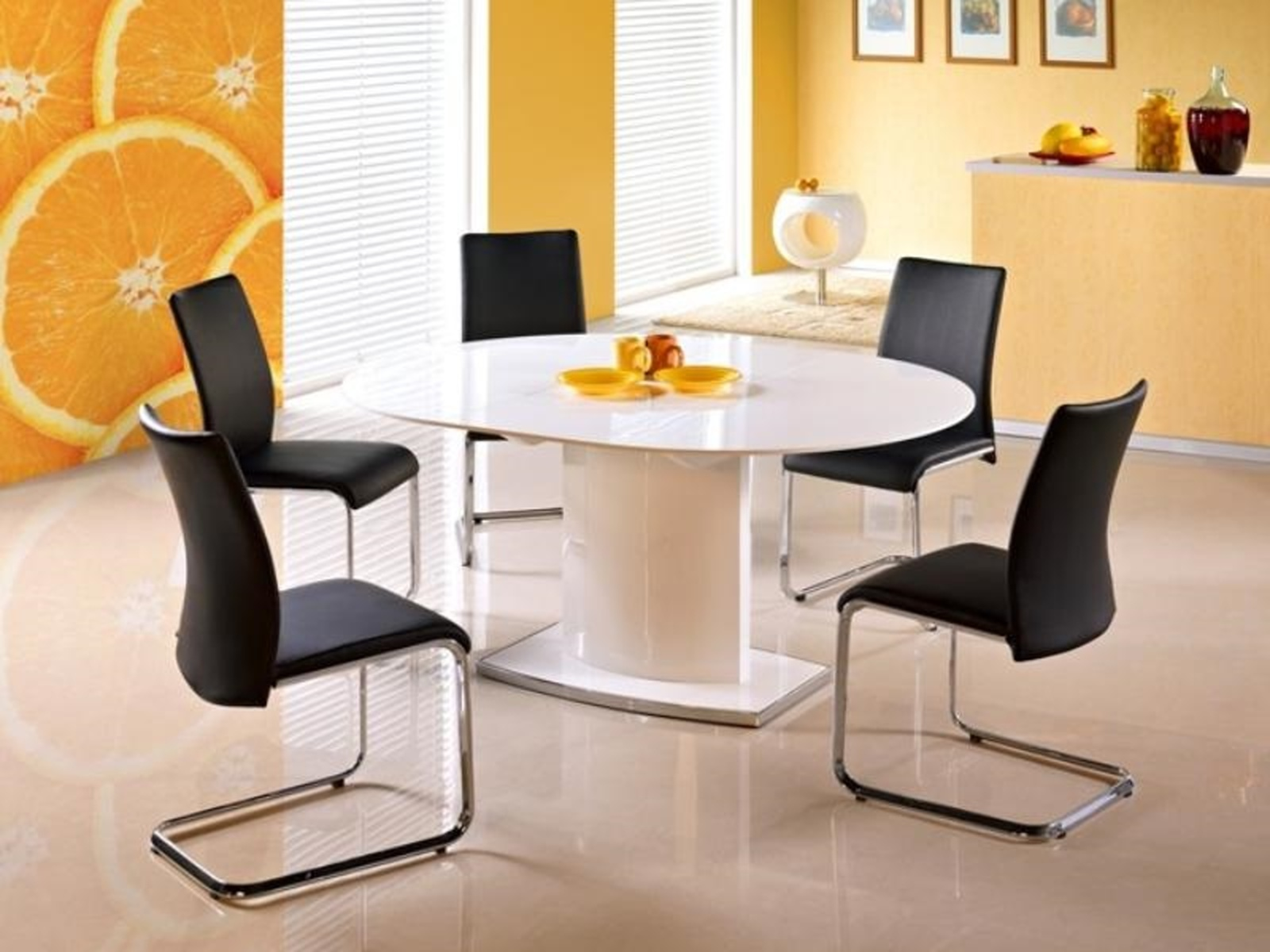 Halmar Jídelní stůl rozkládací FEDERICO, bílá