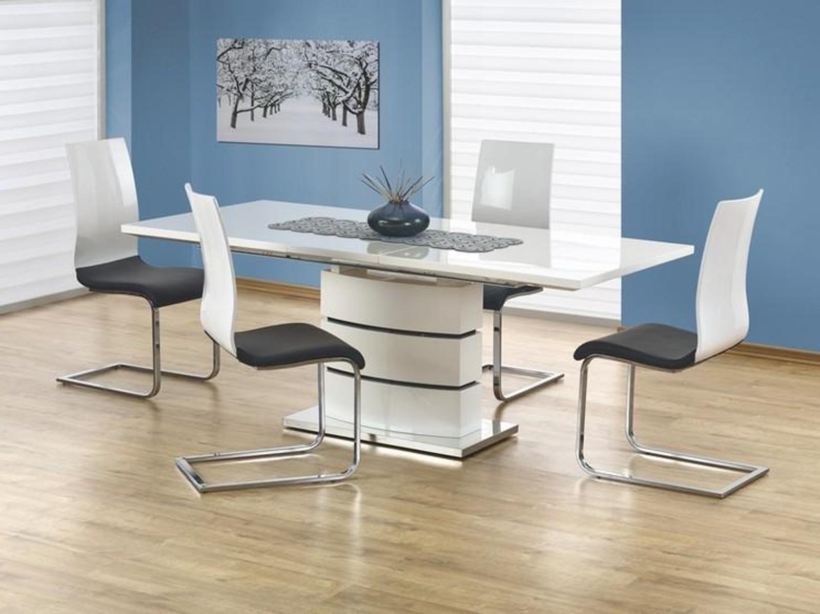 Halmar Jídelní stůl rozkládací NOBEL, bílá