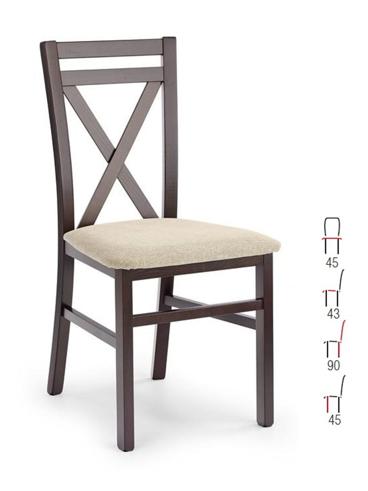 Halmar Židle DARIUS, ořech tmavý