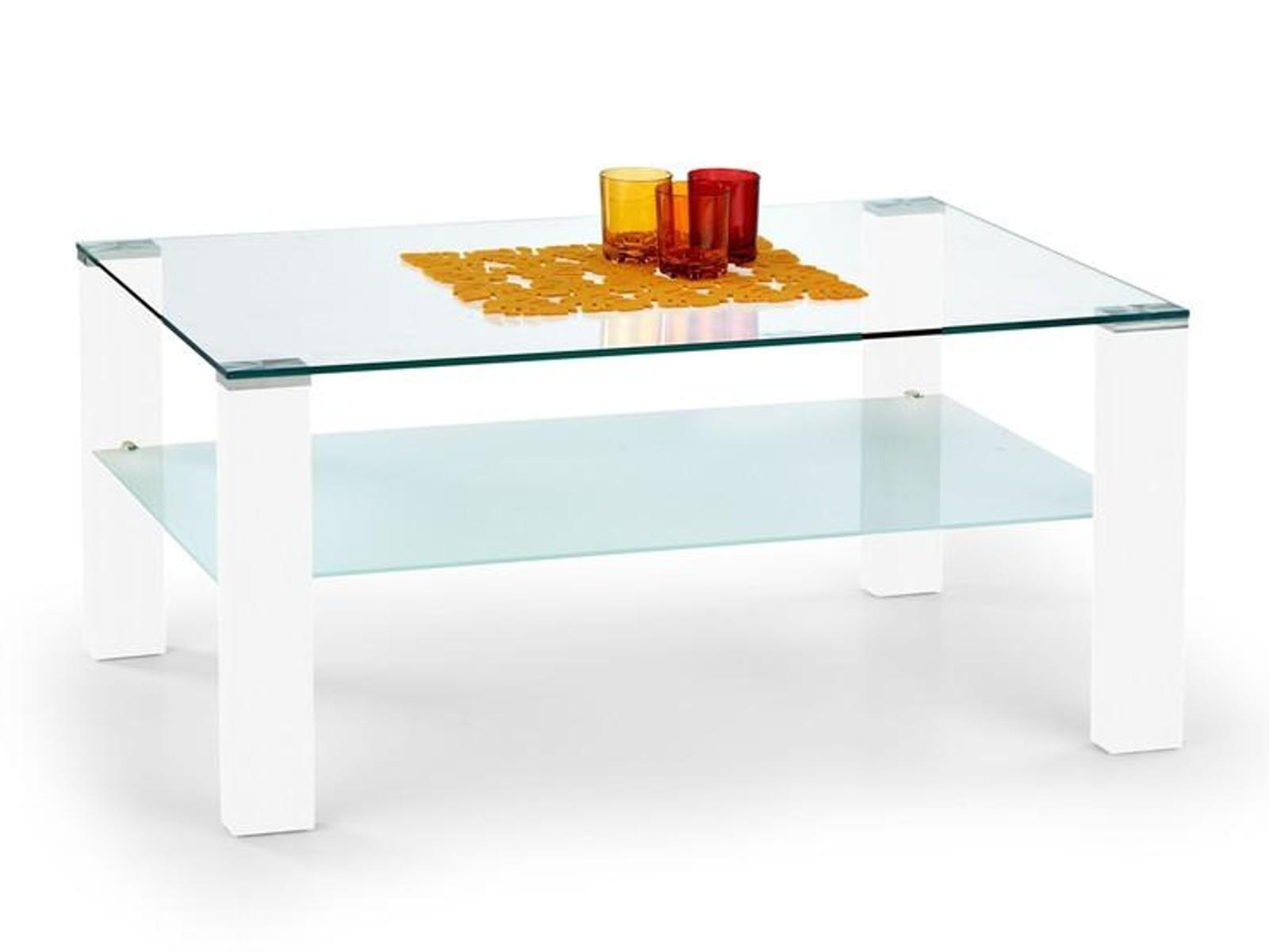 Halmar Konferenční stolek SIMPLE, bílý lak