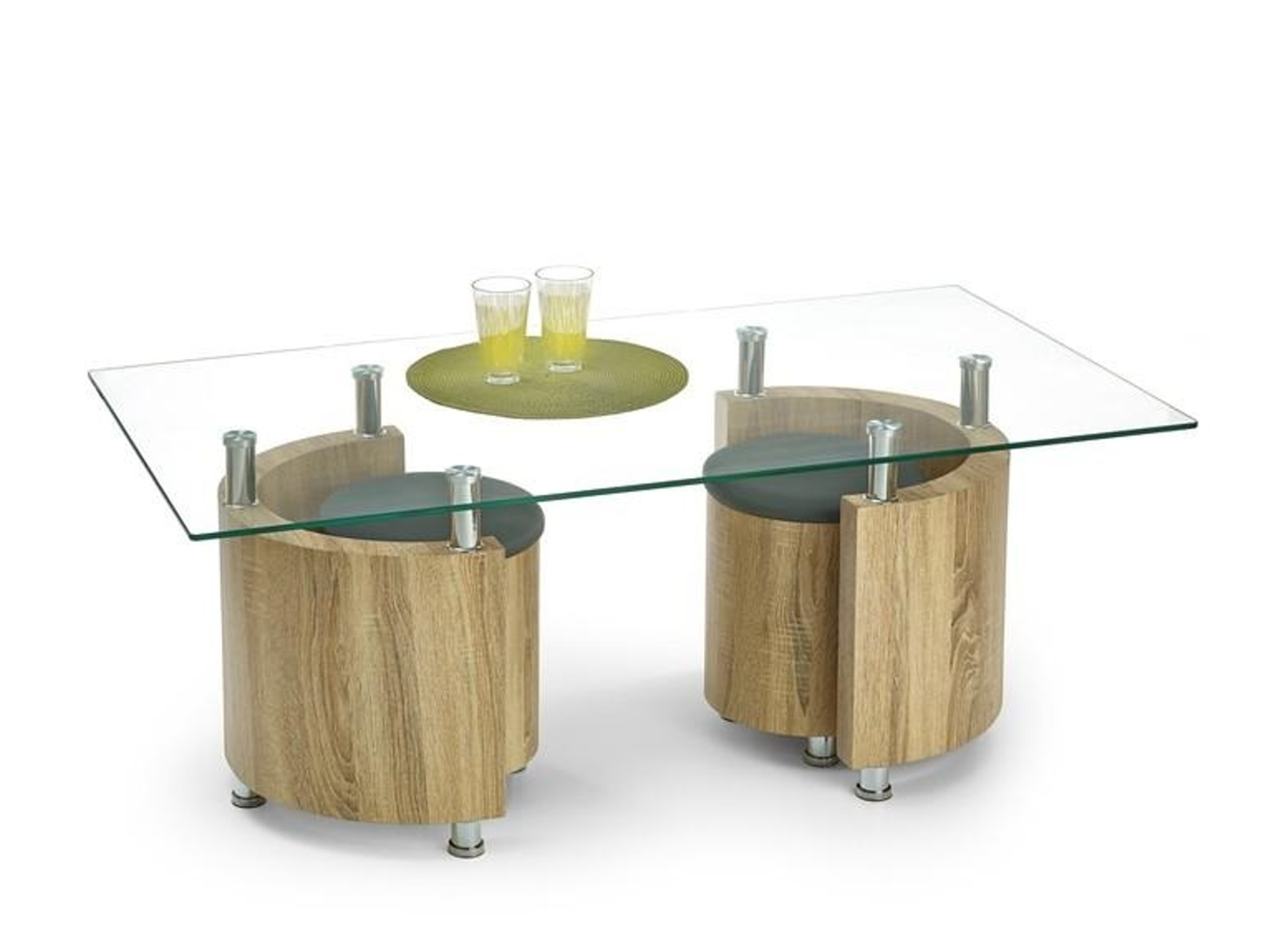 Halmar Konferenční stolek ANGEL, dub sonoma/šedá