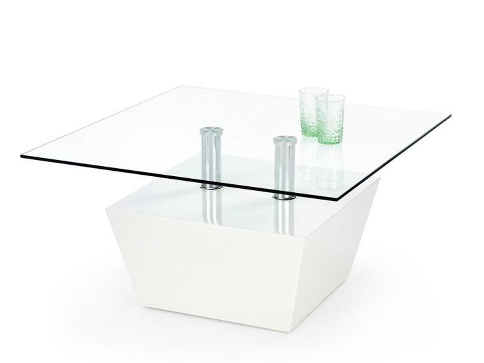 Halmar Konferenční stolek APRIL, bílý