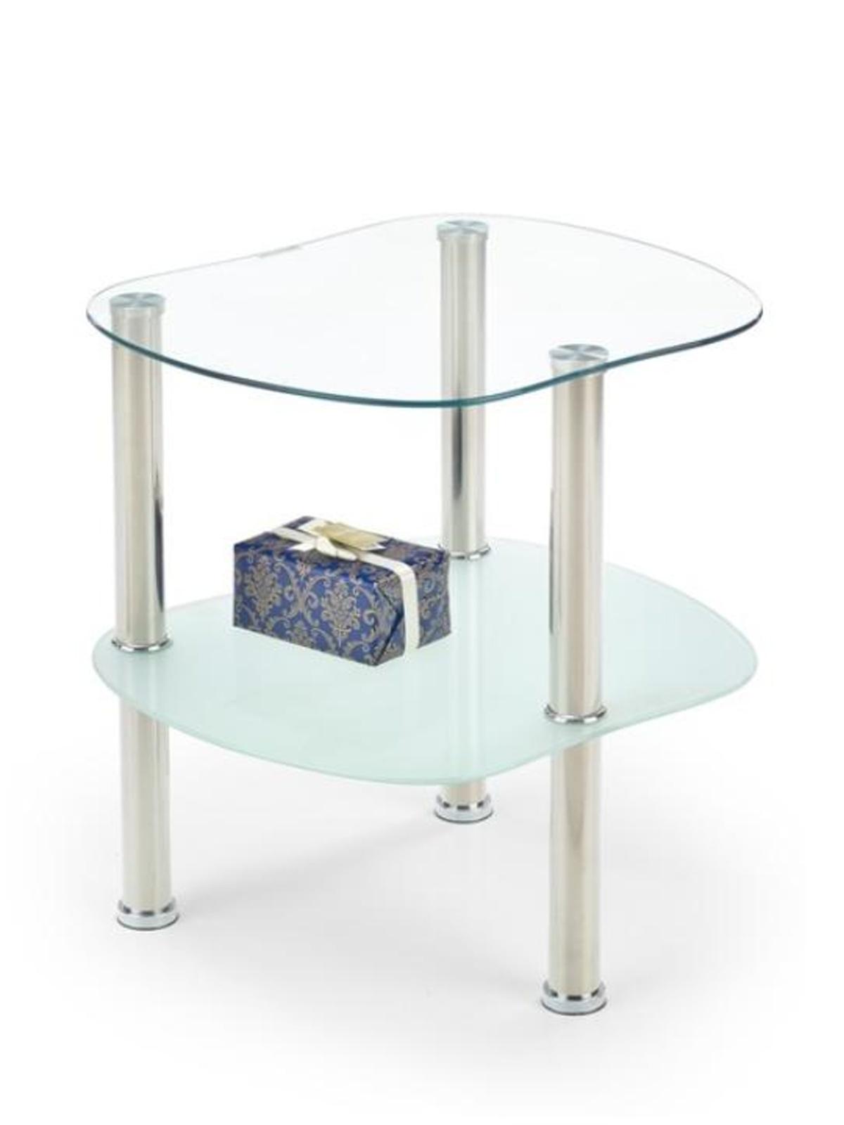 Halmar Konferenční stolek ARYA, kov/sklo