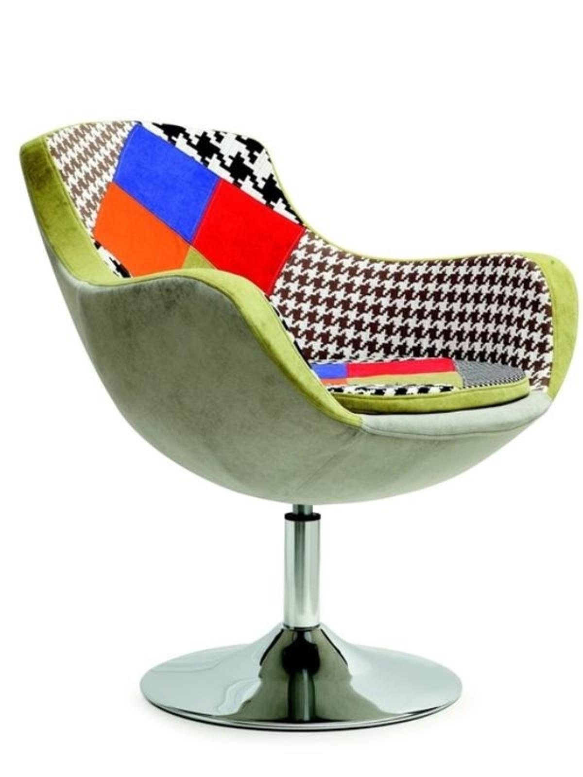 Halmar Čalouněné křeslo ORIGAMI, patchwork