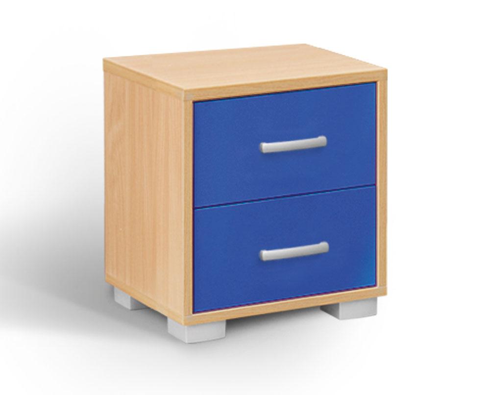 MATIS BAMBI, noční stolek, buk/modrá
