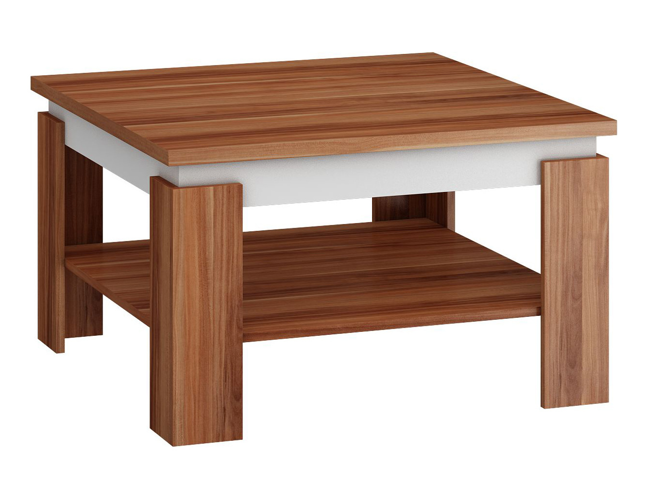 MORAVIA FLAT Konferenční stolek ALFA, švestka wallis/bílá