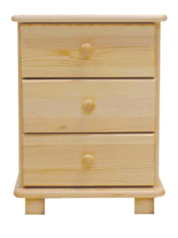 MAGNAT Noční stolek S3, masiv borovice, moření: ...