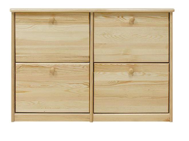 Dřevěný botník 110 x 29 x 80 cm masiv borovice