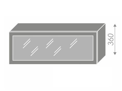 Extom QUANTUM, skříňka horní prosklená W4bs 90 ALU, jersey