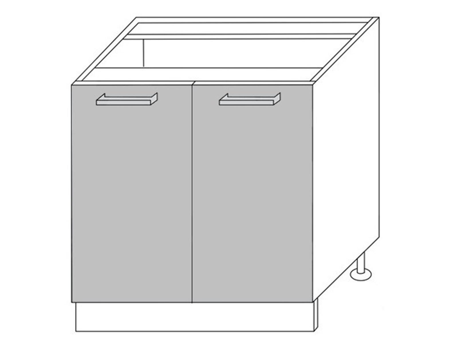 Extom QUANTUM, skříňka dolní D11 80, vanilla mat/grey