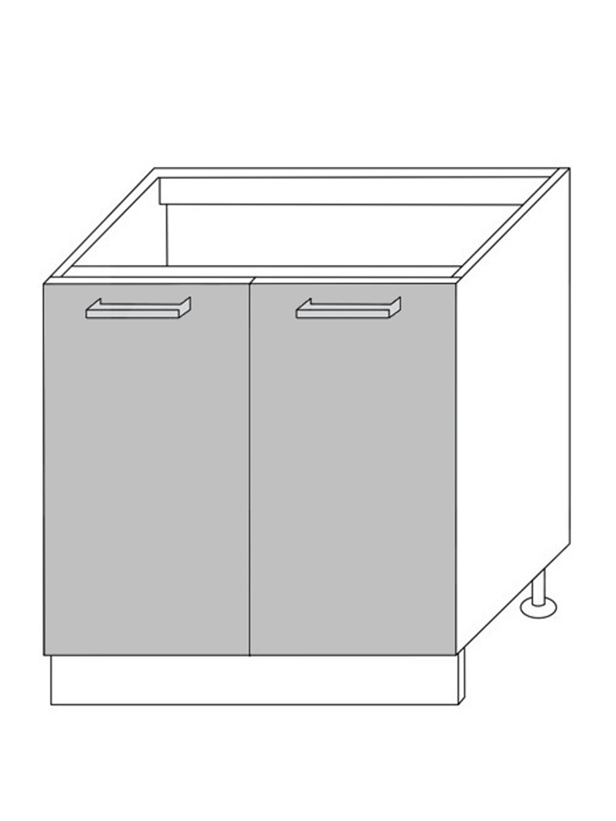 Extom QUANTUM, skříňka dolní D8z 80, beige mat/grey