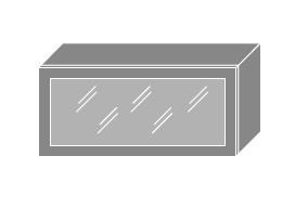 Extom QUANTUM, skříňka horní prosklená W4bs 80 ALU, jersey