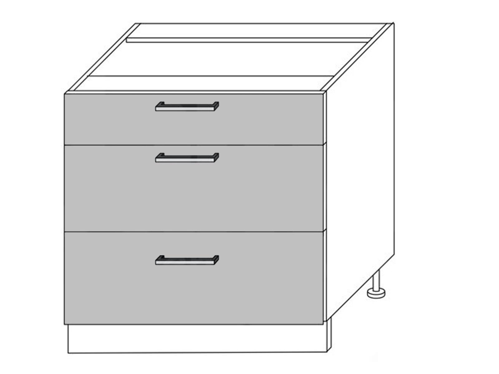 Extom QUANTUM, skříňka dolní D3E 80, beige mat/grey