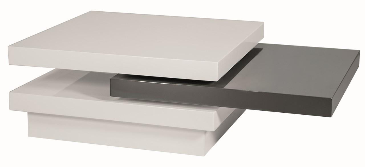 Konferenční stolek TRISTA rozkládací, bílo-šedý