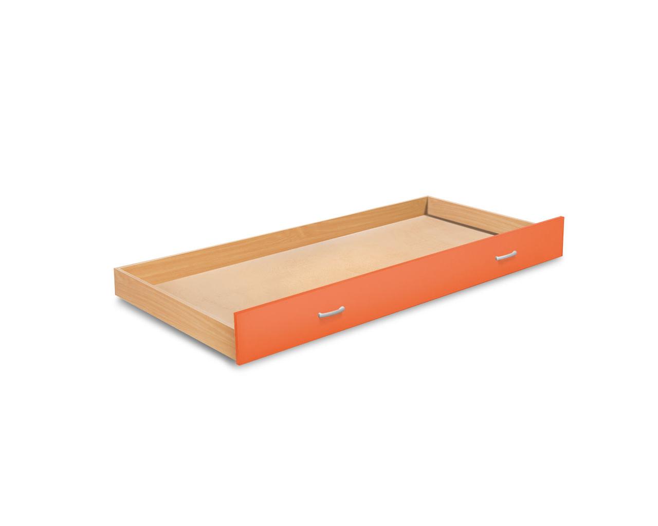 MATIS BAMBI, zásuvka pod postel, buk/oranžová