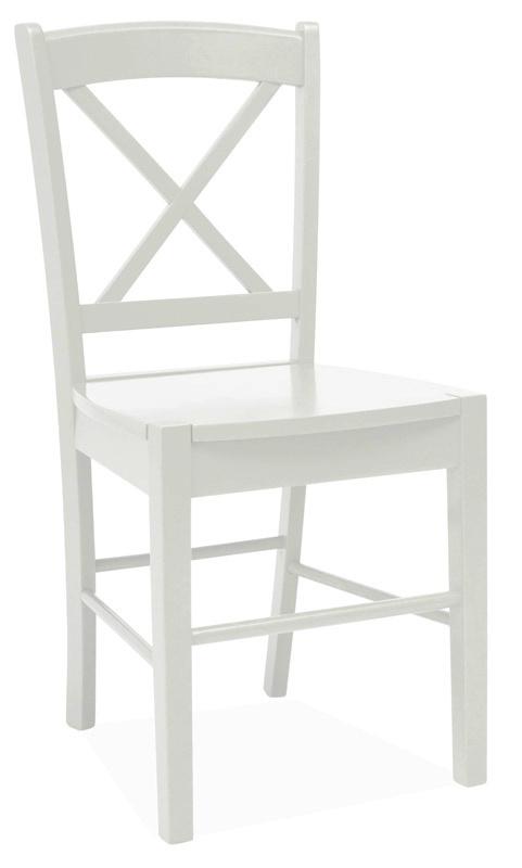 Jídelní dřevěná židle CD-56, bílá