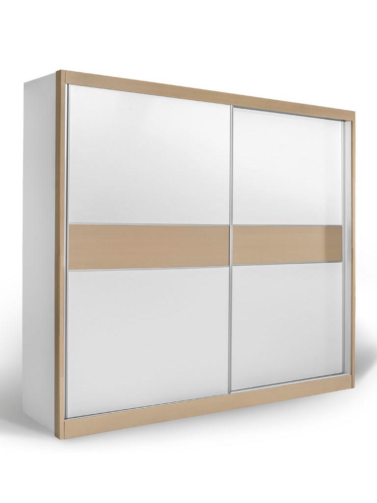 Skříň s posuvnými dveřmi GDM 240, bílá/dub