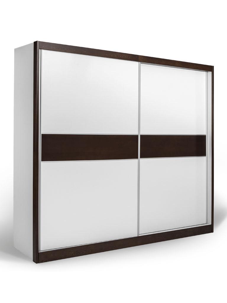 MATIS Skříň s posuvnými dveřmi GDM 240, bílá/wenge