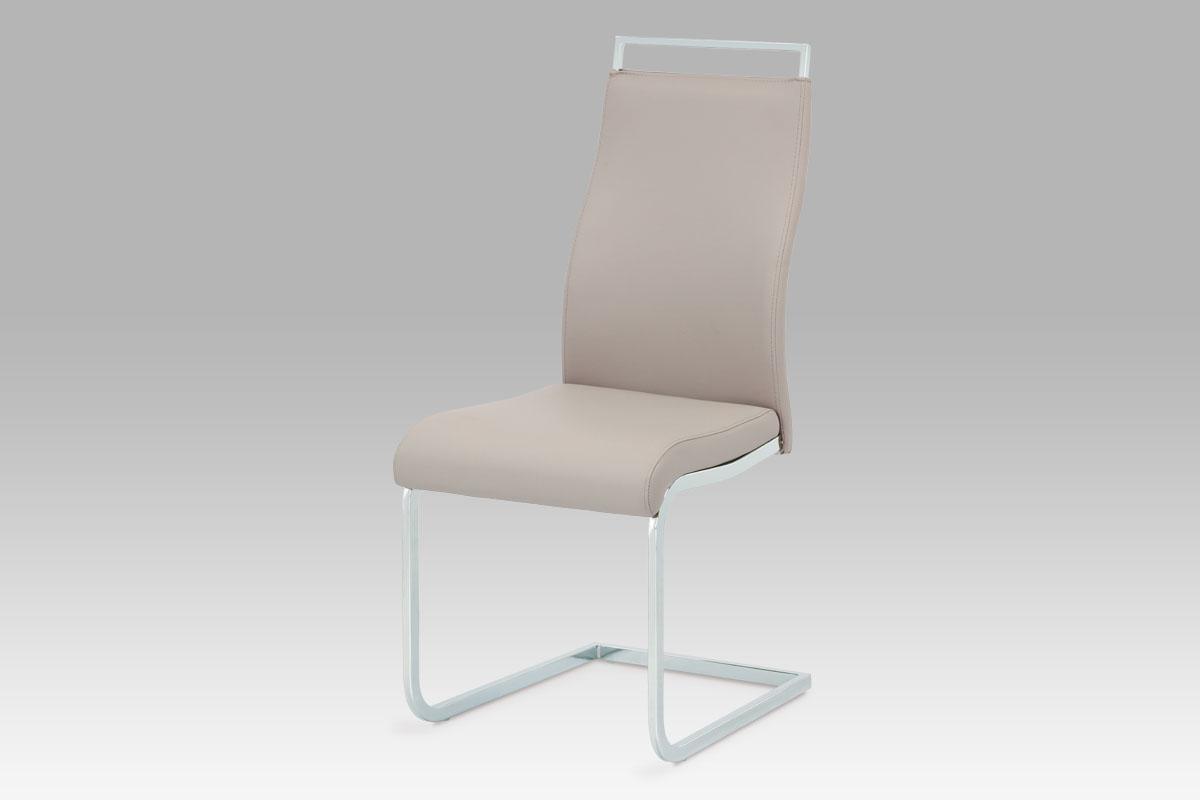 Autronic Jídelní židle, koženka lanýžová / chrom, HC-649 LAN
